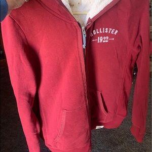 Nwot hollister Sherpa inside jacket